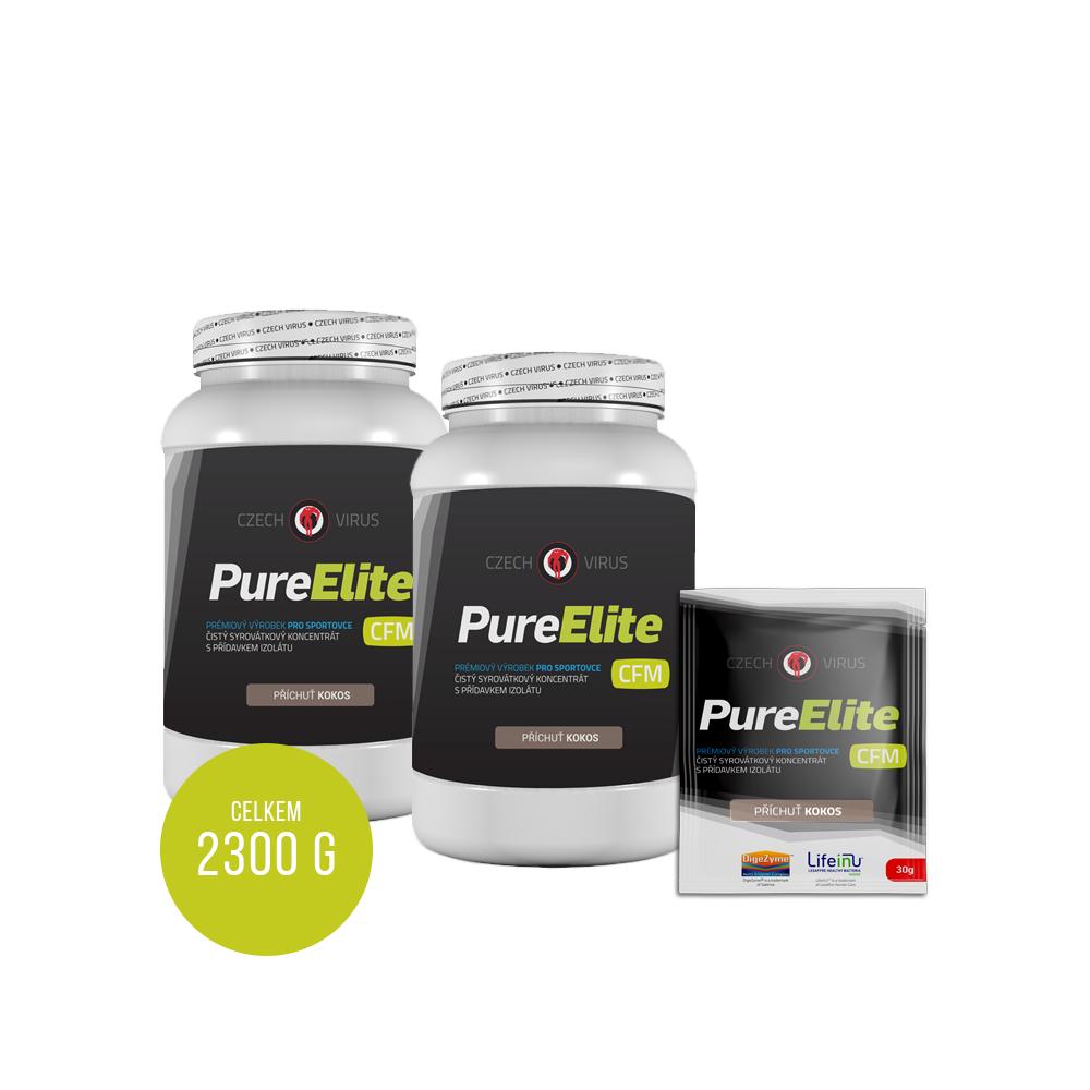 Pure Elite 2x 1Kg + 10 vzorků, celkem 2,3Kg