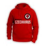 Červená mikina unisex | Czech Virus