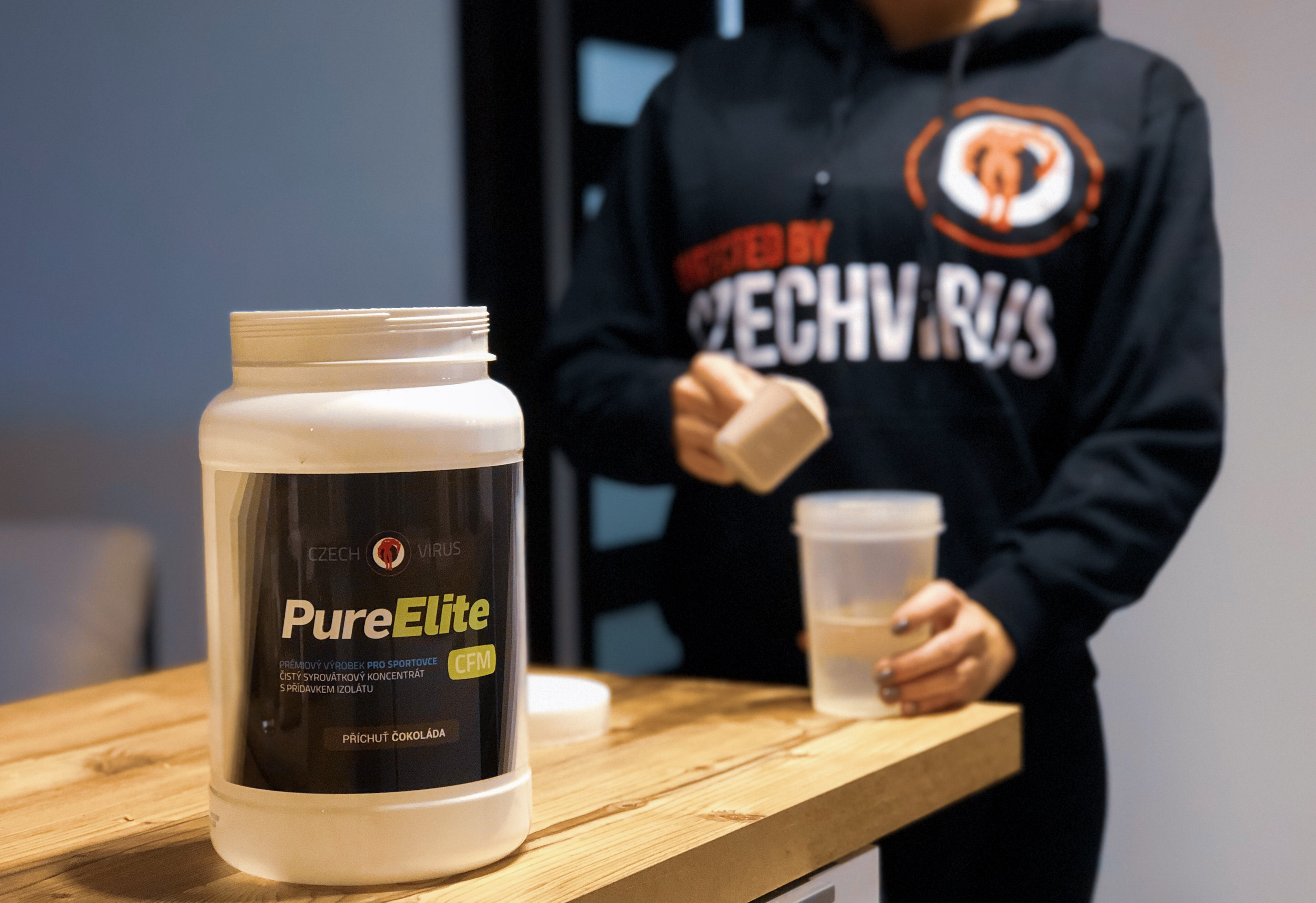 Terka s novým proteinem Pure Elite CFM