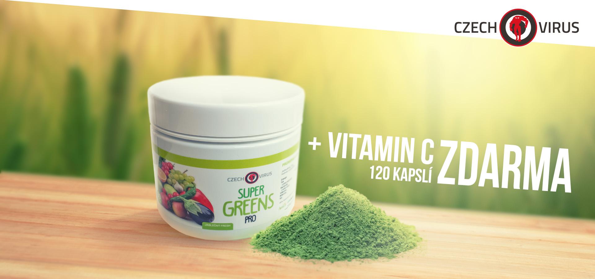 Super Greens PRO + Vitamin C ZDARMA